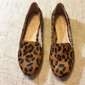 Sole Society Real Fur dyed leopard print shoe